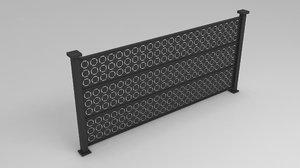 3D railing garden city