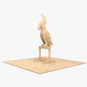 parrot laser cut 3D model