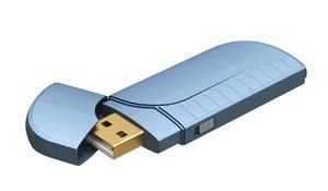 usb flash drive 3D model