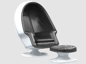 alpha chamber egg chair 3D