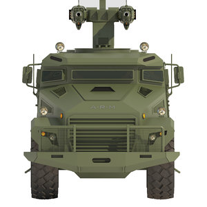 3D armored truck vehicle