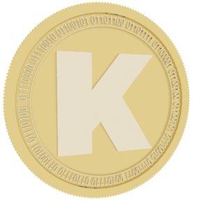 karma gold coin 3D model