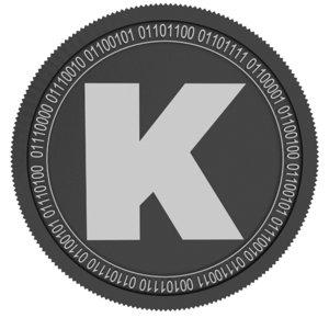 3D karma black coin
