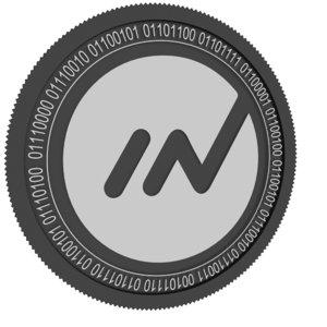 3D innova black coin model