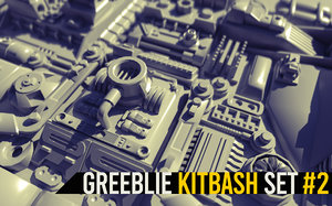 greeblie kitbash set 3D