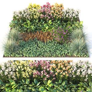 3D flowerbed flowers hosta