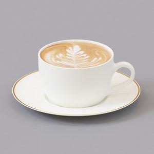 3D cup cappuccino