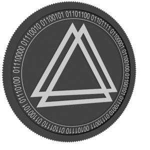 3D libra credit black coin
