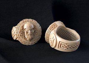 jewellery ring god odin 3D model
