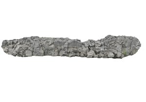 3D iceland basalt cliff