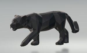 3D black panther model
