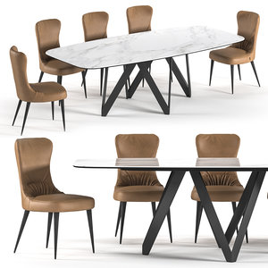 3D model cartesio table rooms