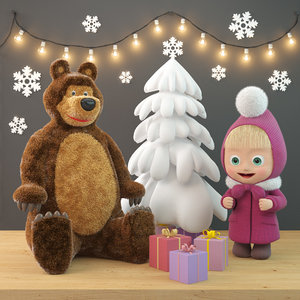 3D toys masha bear