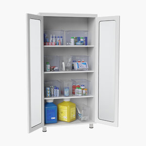 medical storage cabinet locker 3D model
