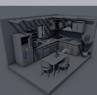 Kitchen Interior Consept Set