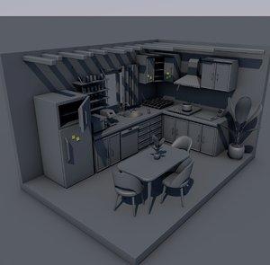 kitchen interior consept 3D