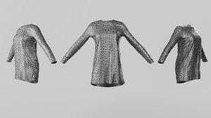 female clothing 06 3D model