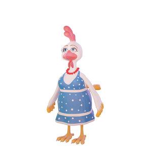 3D chicken cartoon