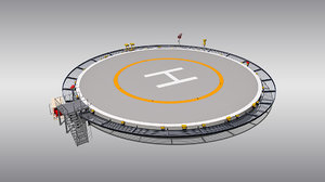 circular heliport 3D model
