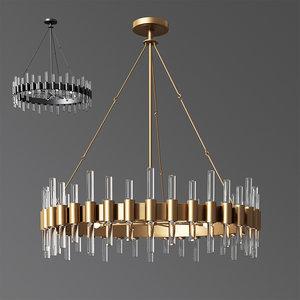 3D haskell chandelier arteriors hanging lamp model