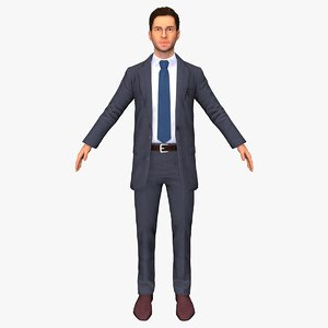 3D business sandoval man rigged
