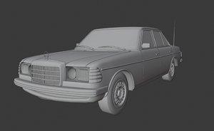 3D retro mercedes benz w123