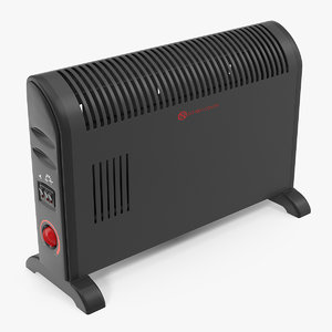 3D model convector heater thermostat