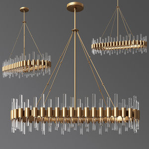 haskell oval chandelier arteriors 3D model