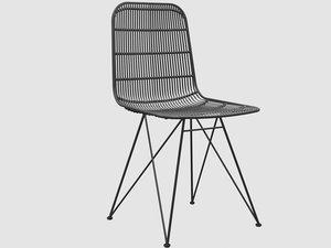 darling rattan chair black model