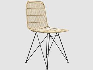 3D darling rattan chair bloomingville model