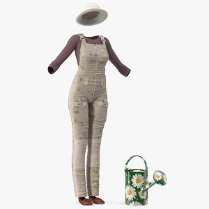 3D gardening outfit watering