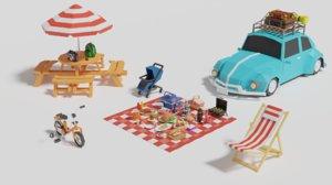 picnic pack 3D model