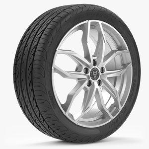 pirelli wheels 3D model