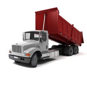 3D dump truck model