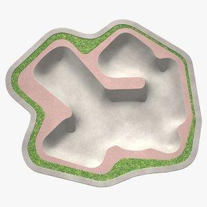 skate park outdoor model