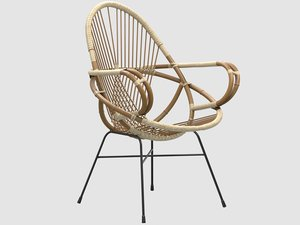 3D diamond rattan armchair wend