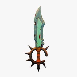 sword handpaint 3D