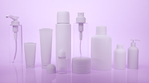 3D cosmetic cream bootles model