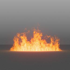 burning flames 04 vdb 3D model