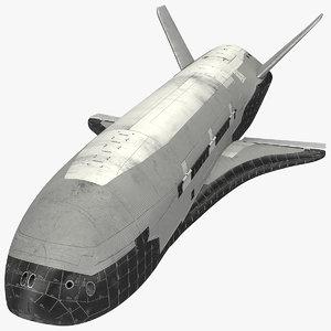 robotic spacecraft space rocket 3D model