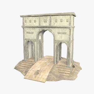 3D model roman building -