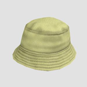 bucket hat 3D model