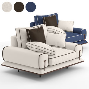 v-ray blues armchair 3D model