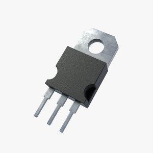 pbr transistor 2k 3D model