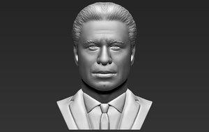 3D john travolta bust printing