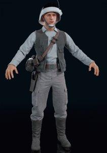 3D model rebel trooper