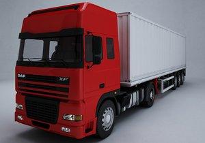 3D model daf xf truck