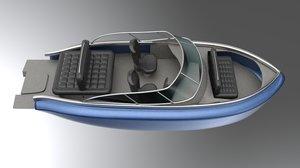 cobalt boat 3D