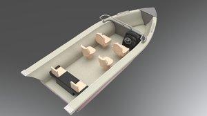 3D sailing boat model