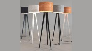 zuiver floor lamp tripod 3D model